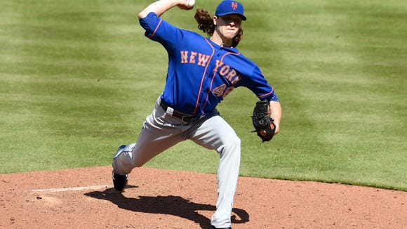 Mets starting pitcher Jacob deGrom