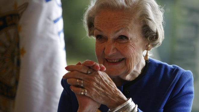 Doris Finch Watson greeted the crowd as she was introduced during the White Plains Chapter NSDAR Annual Luncheon at Westchester Hills Golf Club Oct. 3, 2008, where she received The Historic Preservation Medal from the Daughters of the American Revolution. Watson died Tuesday at the age of 91.