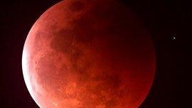 Blood moon eclipse.
