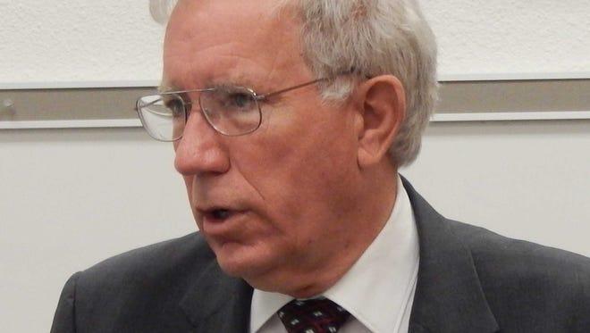 ENMU Portales President Steven G. Gamble adresses lower enrollment numbers at ENMU-Ruidoso.