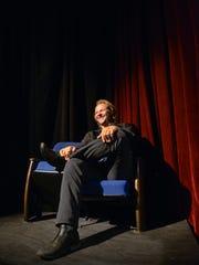 Matt Velline talks Wednesday, Sept. 21, at Pioneer