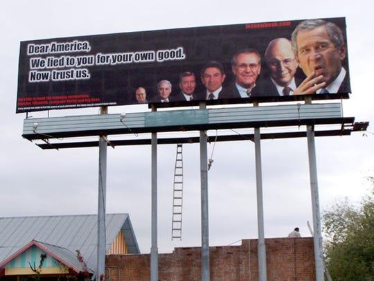 A 2004 billboard by Karen Fiorito.