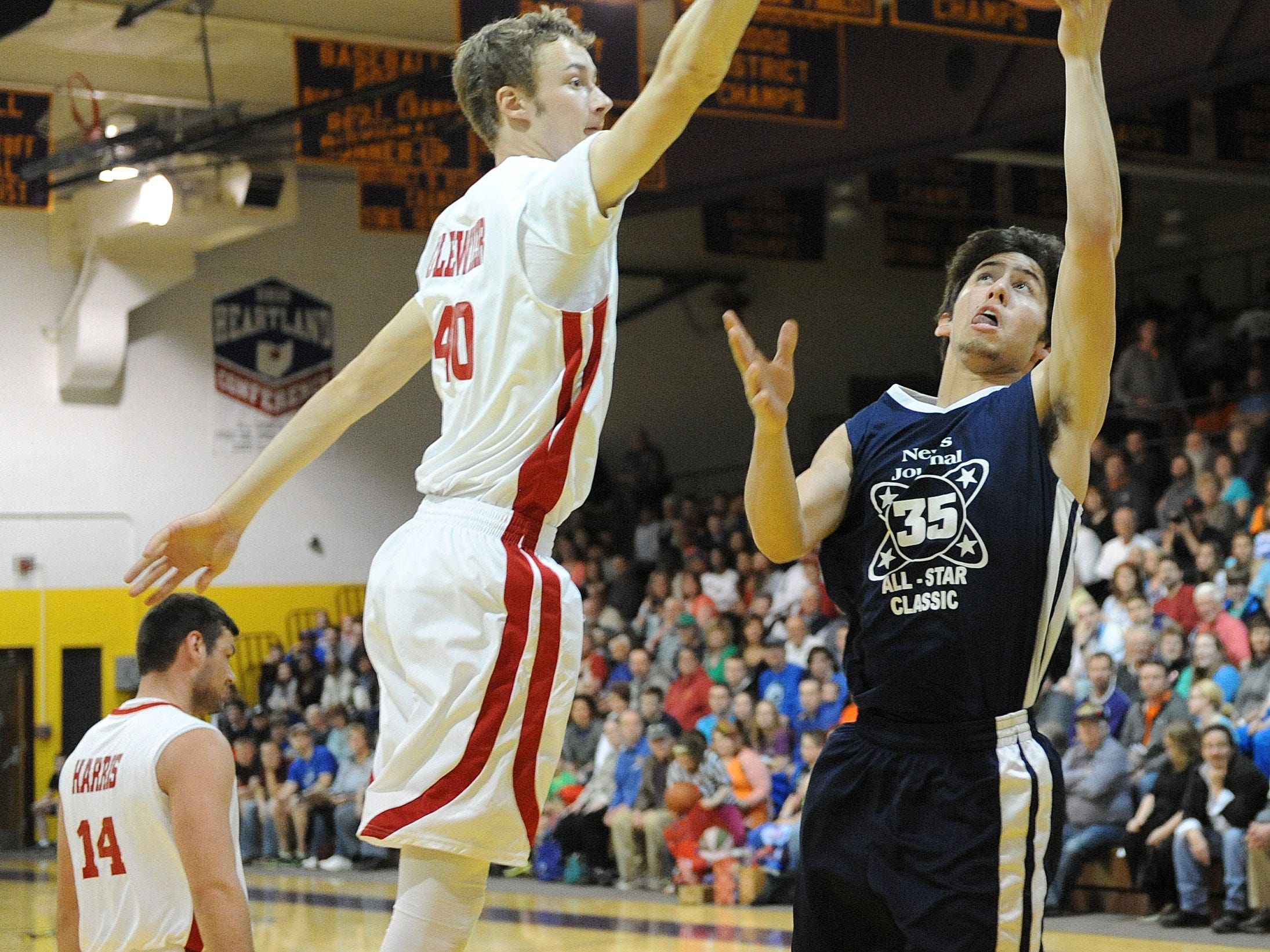 Dylan Gulley goes for a layup during the 37th annual News Journal All-Star Basketball Classic at Lexington High School.