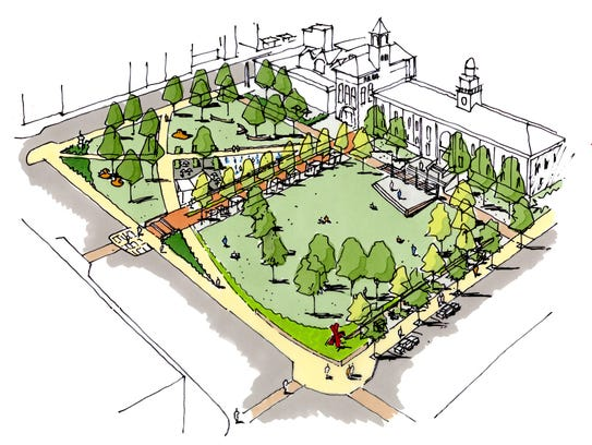An artist's rendering of planned renovations for Burlington's