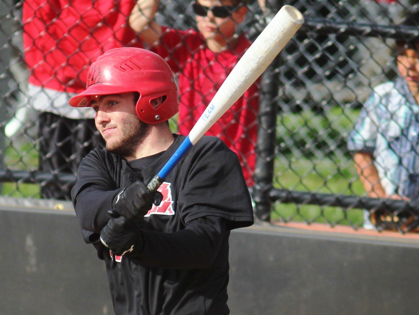 Tyler Lyons drove in three runs in Ludlow's 15-2 win over Holmes Monday.