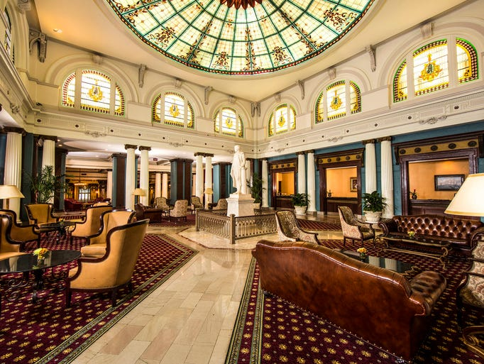 1. The Jefferson in Richmond, Va.: Perhaps Richmond's most historic and opulent hotel, The Jefferson also hosts an afternoon tea in its elegant Palm Court. Drink tea while you gaze up at the Tiffany stained-glass dome ceiling and admire the rich history that's practically seeping through the walls at this hotel. Tea highlights here include The Jefferson Blend — a traditional English tea made from Keemun, Darjeeling and Ceylon that's described as aromatic with a full flavor -- and The Richmond Blend, a spicy tea that's a combination of black tea, cinnamon oil, orange peel and cloves. As you nurse your beverage, nibble on finger sandwiches, scones with cream and strawberries, and a selection of pastries.