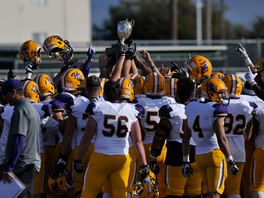 The Hardin-Simmons University Cowboys hold the Wilford