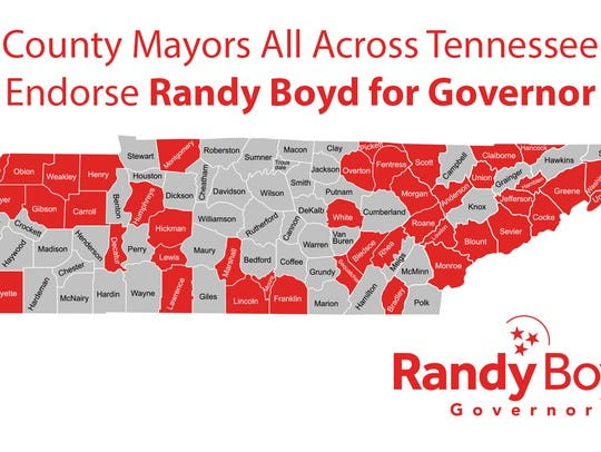 Mayors across Tennessee endorse Randy Boyd for governor.