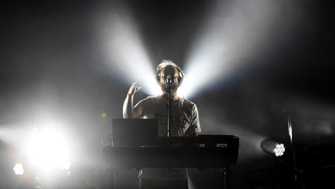 Musician Justin Vernon of Bon Iver performs during day 2 of the 2017 Coachella Valley Music & Arts Festival in Indio, California.