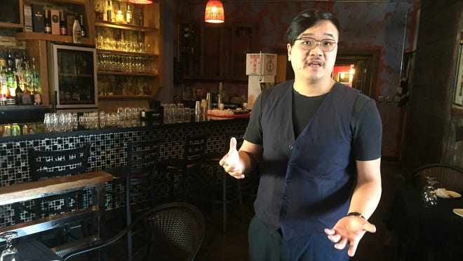 "Will Zhou, owner of Ichiban Sichuan Restuarant in downtown Lafayette, discusses improvements made to the restaurant Wednesday, March 8, 2017. Sixty-four people in the restaurant were cited last month for ""minor in a tavern"" violations."