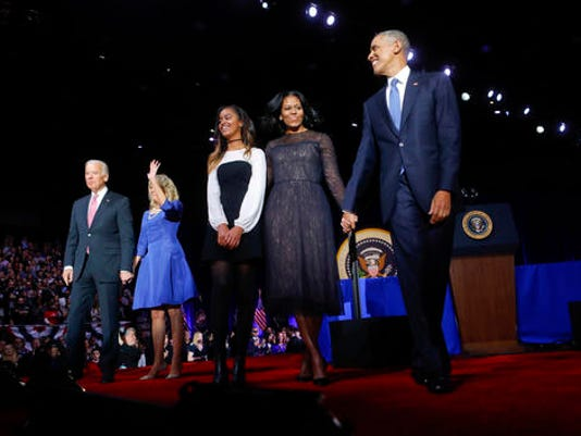 Barack Obama, Michelle Obama, Malia Obama, Joe Biden, Jill Biden