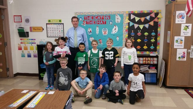 St. Mary Elementary School, Menasha, students and staff celebrated numbers in honor of Pi day on March 14. Students wore shirts with numbers on them and had speakers talk about how they use numbers on a daily basis. Students also had a classroom competition of reciting as many of the Pi digits that they could.