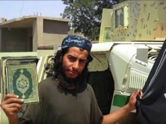 Islamic State terrorist Abdelhamid Abaaoud,