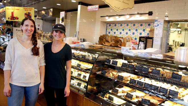 Julia Block (left) and Chelsea Zwieg are moving from employees to owners of C. Adam's Bakery in the Milwaukee Public Market, 400 N. Water St.