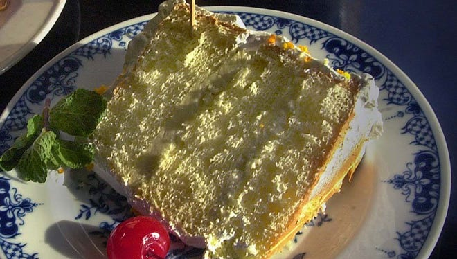 Sunshine Cake from Watts Tea Room has been popular for many decades.