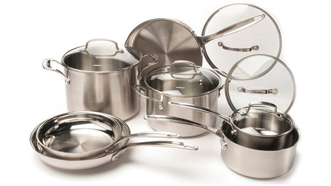 you can upgrade your kitchen aesthetic with this stainless - Cuisinart Pots And Pans