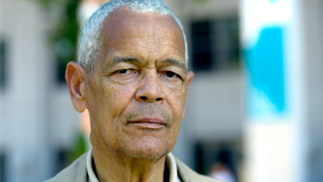 Late civil rights activist and former NAACP chairman Julian Bond is shown.