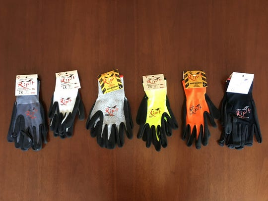Ripit Glove's line of gloves.