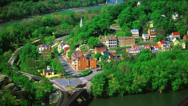 Harpers Ferry National Park offers more than 20 miles of trails, ranging from peaceful strolls along the river to four-mile hikes across battlefields to eight-mile adventures on mountaintops.