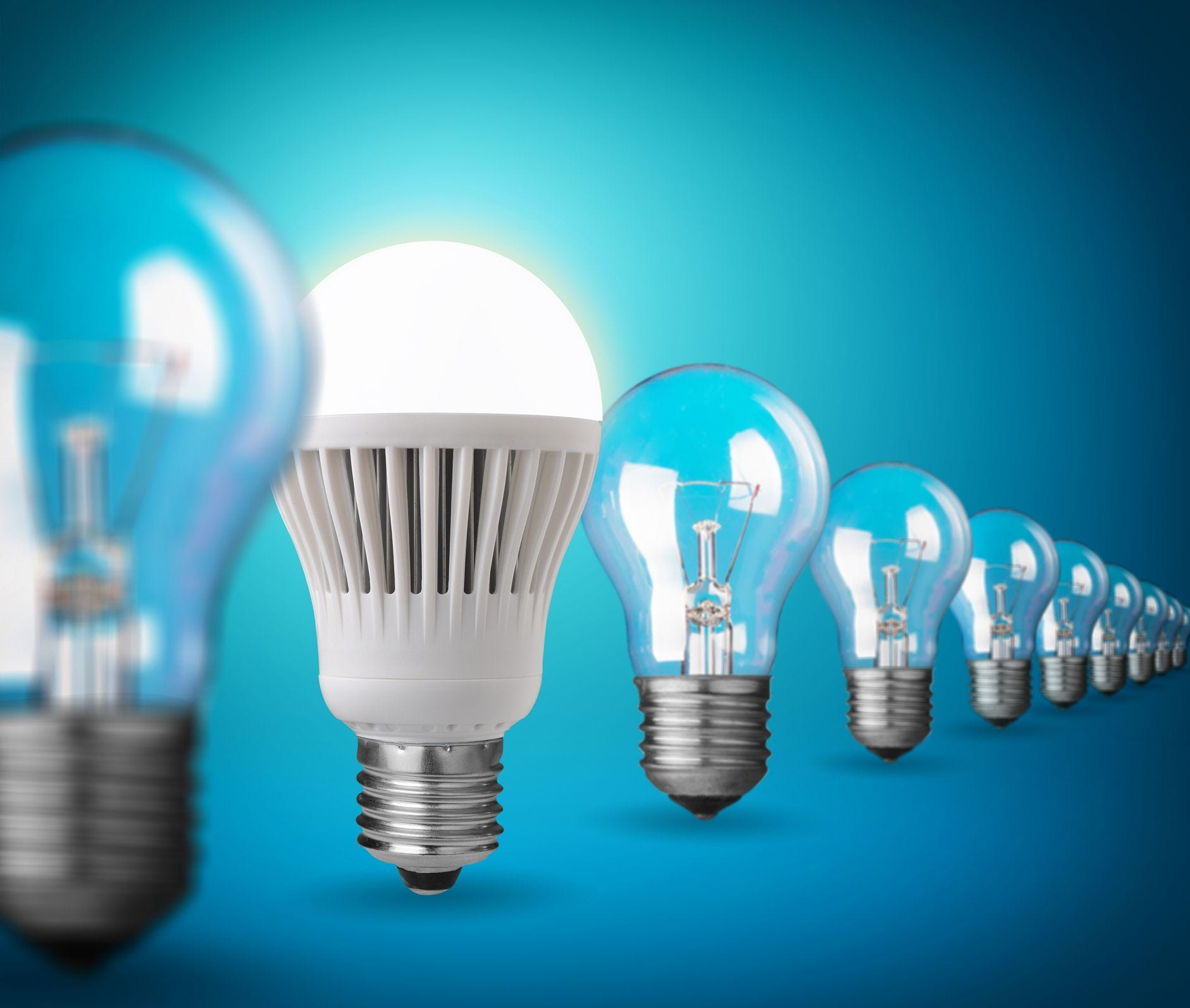 household savings led bulbs gaining in cost efficiency