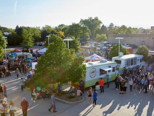 Crowds and food trucks gathered for food, fun and music