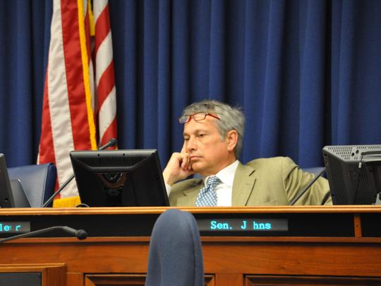 Sen. Eric LaFleur, D-Ville Platte and the chairman of the Senate Finance Committee, urges support for Constitutional Amendment 4.