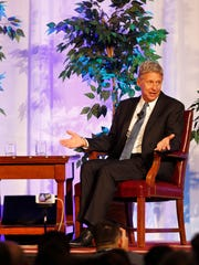 Libertarian presidential candidate Gary Johnson, right, took 3.28 percent of the nationwide popular vote in 2016, the best result for a party nominee in its history. He still finished far behind Republican Donald Trump and Democrat Hillary Clinton.