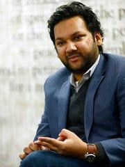 ACLU NJ's new executive director Amol Sinha participates in an Abury Park Press editorial board meeting in Neptune Monday, November 20, 2017.
