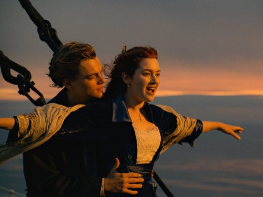 Leonardo DiCaprio, left, and Kate Winslet appear in