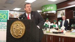 Governor Chris Christie came to a newly opened QuickChek