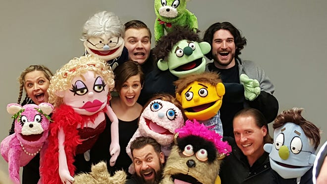 "Villagers Theatre in Franklin will present the Tony-winning ""Avenue Q"" on weekends throughout most of November. Pictured is Cincinnati Landmark Productions' cast."