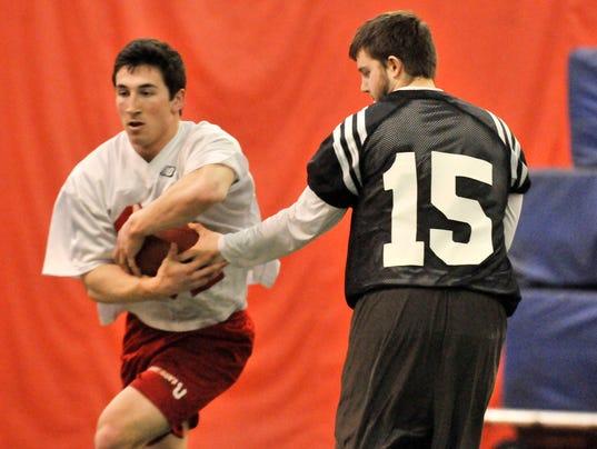 St. John's spring football practice