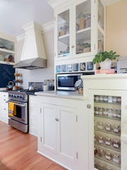 In this kitchen the contractor used salvaged wood and