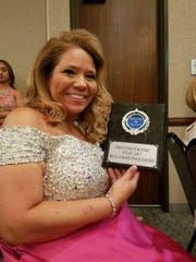 Brooke Acker, 44, of Ingleside was named Mrs. Texas for a second consecutive year.