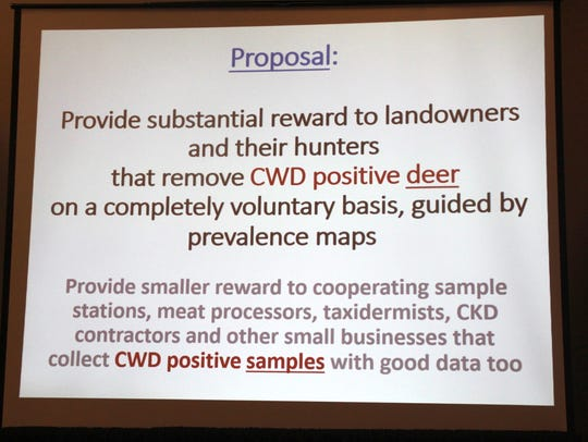 Mike Foy, a retired DNR wildlife supervisor, has proposed
