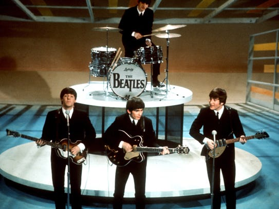 "The Beatles perform on ""The CBS Ed Sullivan Show"" in"