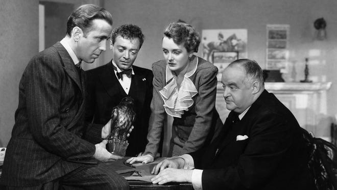 """""""The Maltese Falcon"""" stars Humphrey Bogart (from left), Peter Lorre, Mary Astor and Sydney Greenstreet."""