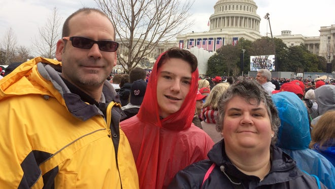 Pete and Jean Jacoby and their son, Peter III, of Stevens Point, attended the 58th Presidential Inauguration in Washington, D.C. on Jan. 20.