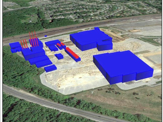 Artist's conception of the data center/power plant complex that was proposed for but ultimately rejected by the University of Delaware.