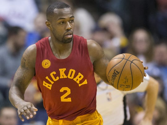 Rodney Stuckey of the Pacers, Bankers Life Fieldhouse, Indianapolis, Sunday, April 10, 2016. Indiana beat the Brooklyn Nets 129-105.