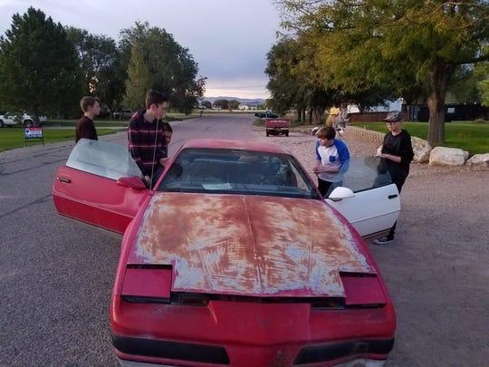 The 1987 Pontiac Firebird in its original condition.