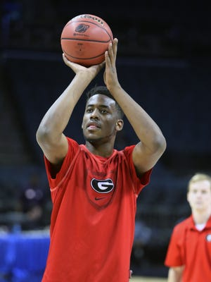 Yante Maten, who played at Bloomfield Hills, is a freshman forward at Georgia.