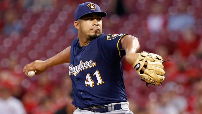 Junior Guerra helped stabilize the Brewers' starting rotation last season.