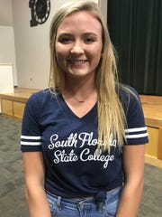 Baylee Haggard signed to play softball with South Florida State College.