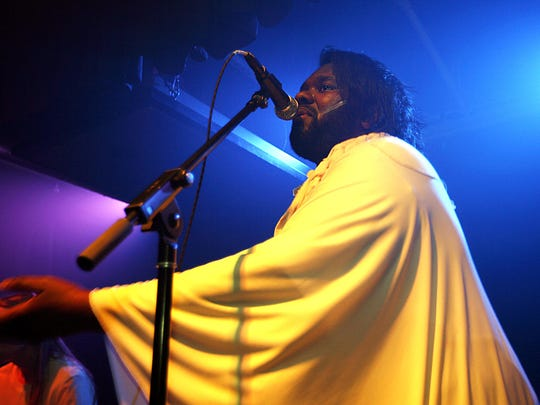 Singer Tunde Olaniran of Flint, performs at The Loving Touch in Ferndale during the Secret Friends Festival Saturday, Jan. 11, 2014. Gary Malerba/Special To The Detroit News