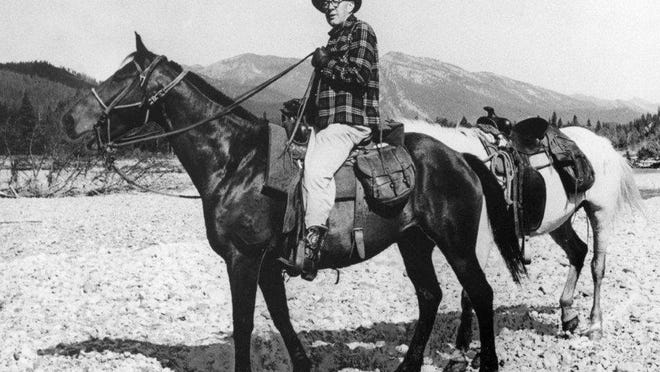This is an undated contributed photo of Howard Zahniser on horseback in the Bighorn Mountains of Montana. Zahniser, a Tionesta native, was instrumental in the writing and passage of the 1964 Wilderness Act, which set aside federal land, much of it in national parks and forests, that would remain undeveloped for recreational use.