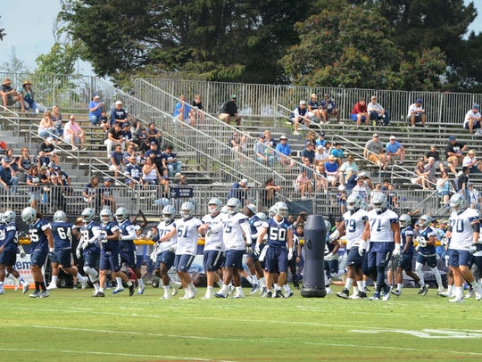 The Dallas Cowboys take the field for first day of
