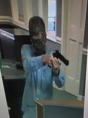A suspect robbed a TD Bank in Easley Thursday.