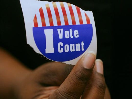 A sticker received by a voter after going to the polls on Election Day.