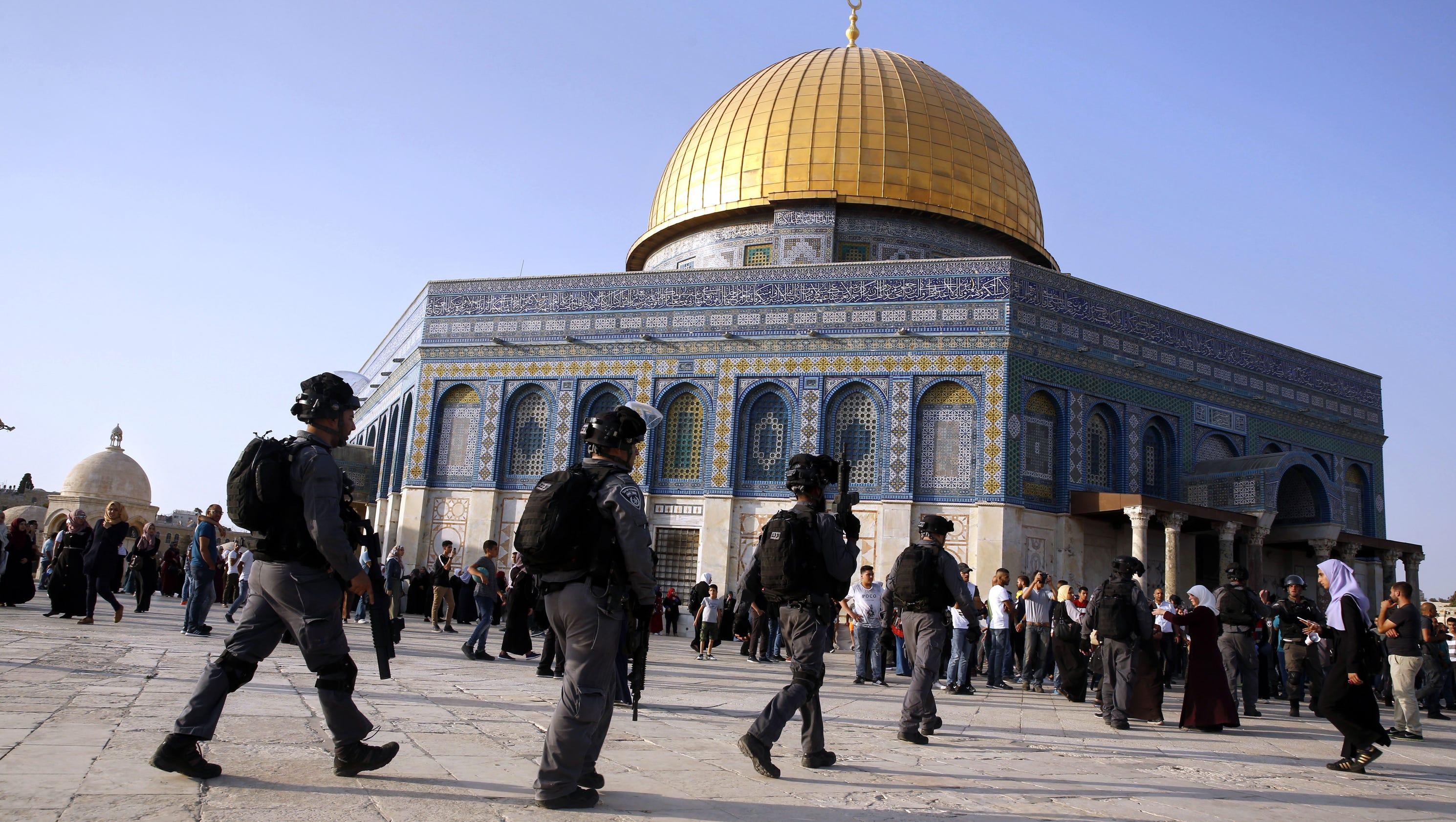 Muslim men over 50 banned from Jerusalem shrine as police on high alert